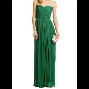 Badgley Mischka Green Strapless Empire Gown Size 4